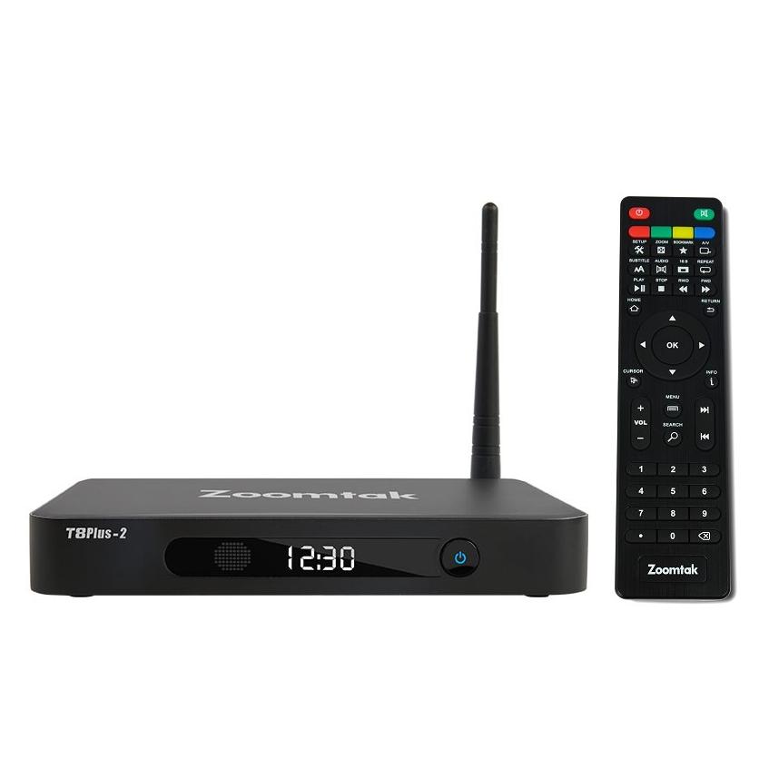 Zoomtak T8 Plus 2 64 bit Octa Core 4K Smart TV Box, 2Gb RAM 16Gb ROM,  Android 7 1 2 Nougat - Kodi 18 3 Leia